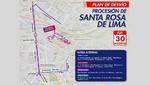 Municipio de Lima informa plan de desvío por primer recorrido procesional del Señor de los Milagros