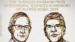 El Nobel de Economía para economistas que aportaron en el campo de la innovación, el cambio climático y el crecimiento económico