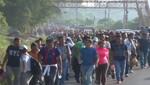 Una caravana de inmigrantes partió de Honduras en dirección de México y Estados Unidos