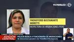 Lanzan orden de detención contra trabajadora de Migraciones que habría dejado a pasar por puesto fronterizo a César Hinostroza