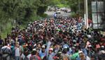 Migrantes desafían a Donal Trump y están decididos a proseguir su marcha por México hacia Estados Unidos