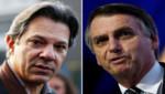 La distancia en la preferencia de los electores que separa a Jair Bolsonaro y Fernando Haddad se acorta