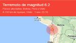 Chile: por lo menos una docena de réplicas se han producido después del movimiento sísmico de 6,2 de ayer 1 de noviembre