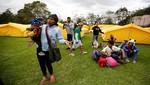 Colombia abre primer campamento para migrantes venezolanos refugiados