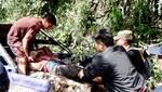 Ayacucho: Vuelco de camioneta deja seis policías heridos