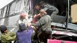 Bus interprovincial se estrella contra frontis de casa