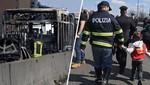 Milán: un conductor secuestró un autobús escolar que llevaba a 51 niños