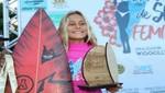 La surfista piurana Catalina Zariquiey Vegas destaca en circuito de surf en Brasil