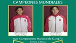 Delegación Peruana logró 11 medallas en el 8th World Kung Fu Championship