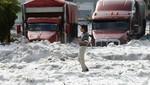México: tormenta de granizo anormal enterró automóviles y dejó las calles intransitables en Guadalajara