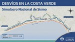 Desvíos en la Costa Verde por simulacro de sismo