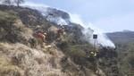 Contingente de brigadistas se movilizó para atender incendio reavivado en el Santuario Nacional de Ampay