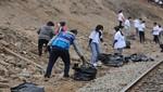 La Municipalidad de Lima y más de 300 voluntarios realizaron limpieza en los alrededores del Río Rímac