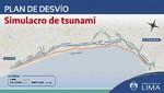 Plan desvío en la Costya Verde por simulacro de Tsunami