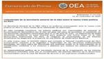 Secretaría General de la OEA expresa su preocupación por la crisis política en el Perú