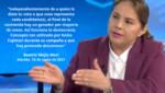 Beatriz Mejia Mori: 'Es momento de armar un gran frente por la democracia y el respeto de la voluntad popular'
