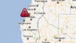 Sismo de 6,2 grados sacude la costa de Chile