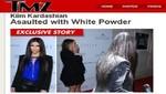 Kim Kardashian recibió el ataque de una mujer que le tiró harina