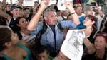 Argentinos se enfrentan a la policía en protesta por la muerte de un pasajero en accidente ferroviario