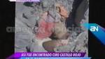 Probable cuerpo de Ciro Castillo sí habría caído desde lo alto de la montaña