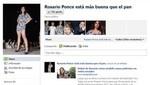 En Facebook: crean página 'Rosario Ponce está más buena que el pan'