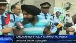 Ministro indio recibe una bofetada por corrupto (video)