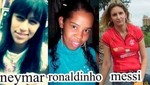 Conozca a los dobles femeninos de Neymar, Ronaldinho y Messi
