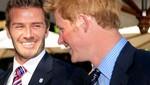 David Beckham visita al príncipe Harry en Beverly Hills