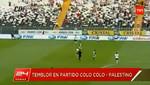 Chile: Colo Colo y Palestino continúan con el partido a pesar del terremoto