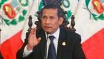 Presidente Ollanta Humala encabezará sesión del Consejo de Ministros