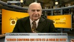 Carlos Ferrero: 'El Gabinete está confirmando que esta es la Hoja de Ruta'
