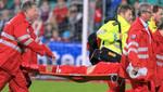 Jugador noruego se desploma durante partido (VIDEO)