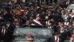 Presidente Humala llegó al Palacio de Gobierno