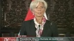 Directora del FMI elogia políticas económicas del actual gobierno