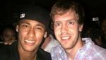 Neymar se encontró con Vettel y le pidió una fotografía en discoteca brasileña