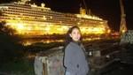 Caso Costa Concordia: Erika Soria cedió su chaleco salvavidas a un anciano