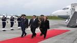 Presidente Ollanta Humala llegó a Chiclayo para V Reunión de Gabinete Binacional Perú-Ecuador