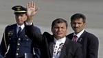 Presidente ecuatoriano Rafael Correa llegó a Lambayeque para encuentro presidencial y Gabinete Binacional