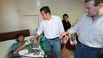 Ollanta Humala visitó a pacientes en hospitales de los institutos armados