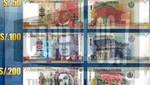 Desde hoy circularán nuevos billetes de 50, 100 y 200 soles