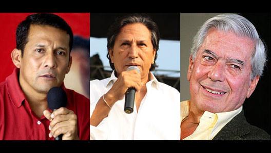 Ollanta Humala, Toledo y Vargas Llosa