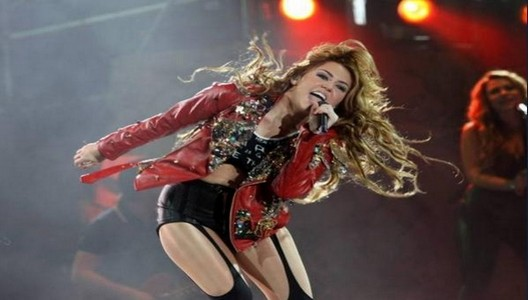 Miley Cyrus monumental en Lima