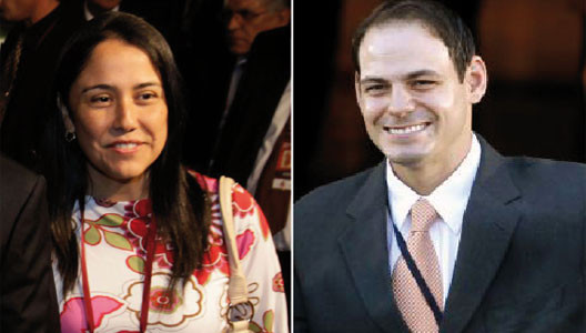 Nadine Heredia y Mark Vito