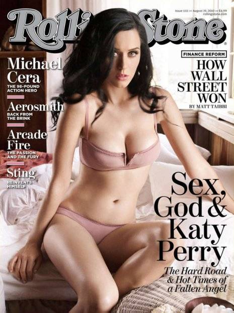 Fotos de Katy Perry casi desnuda en 'Rolling Stone'