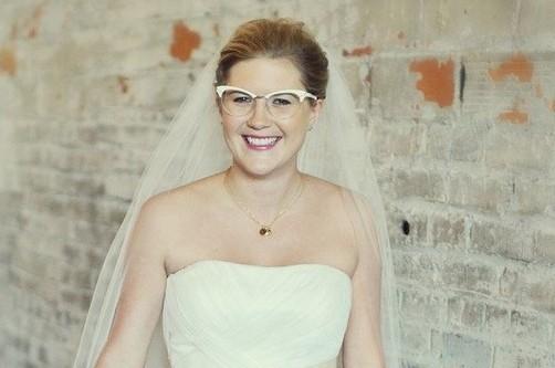 lunettes et mariée