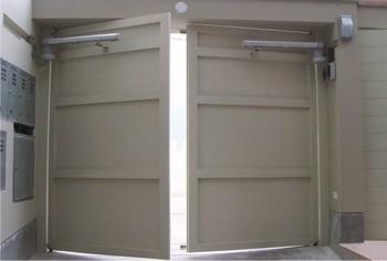 Puertas autom ticas batientes - Mecanismo puerta garaje ...
