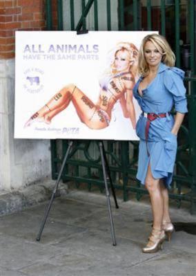 Pamela Anderson se desnuda para la campaña de PETA