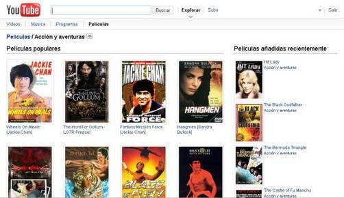 Youtube Movies ofrece 400 películas completas gratis