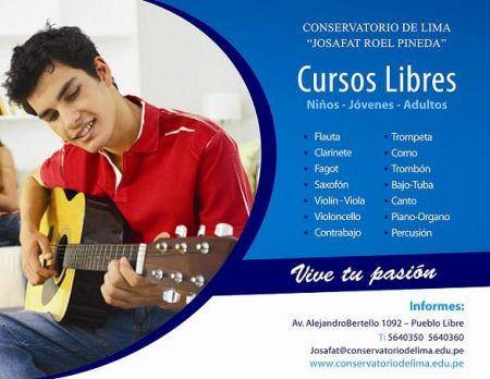CONSERVATORIO DE LIMA: CURSOS LIBRES