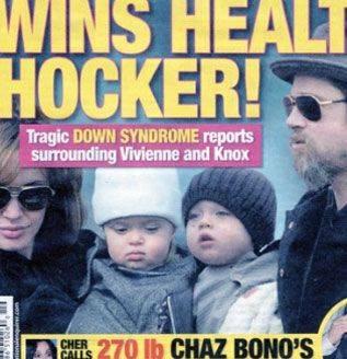 Gemelos de Brad Pitt y Angelina Jolie podrían tener Síndrome de Down